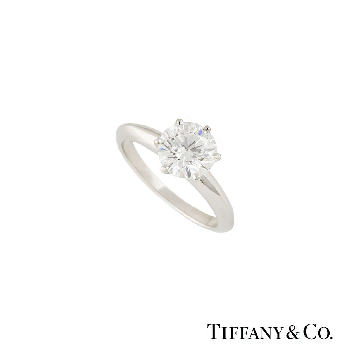Tiffany & Co. Platinum Diamond Setting Ring 1.70ct I/VS1 XXX